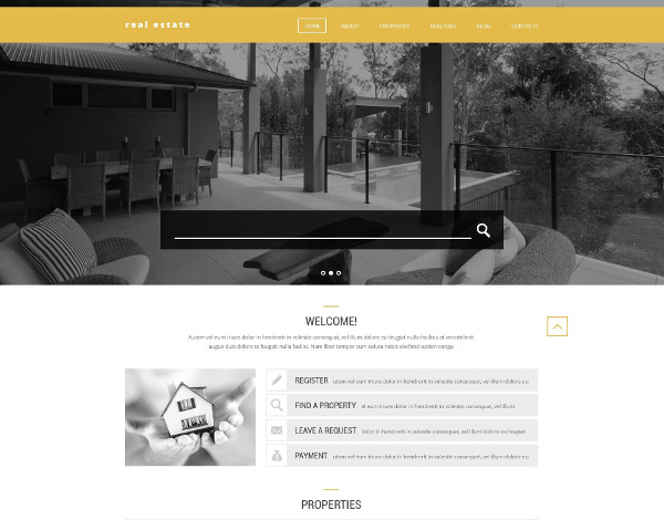 advanced realtor listing website template