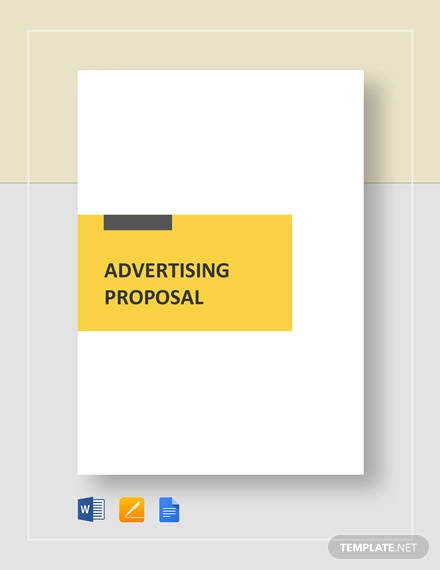 advertising agency proposal template