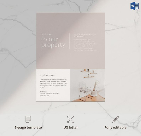 airbnb home rental flyer template
