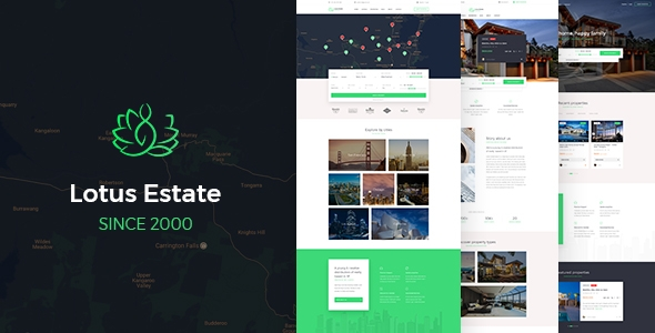 all in one realtor website template
