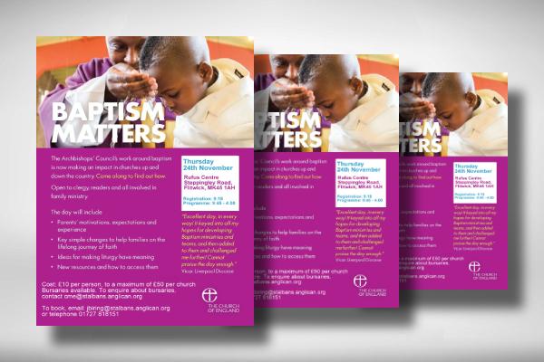 anglican baptism flyer
