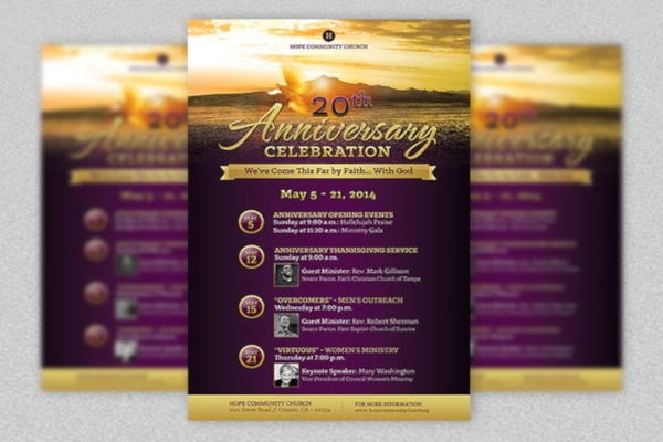 anniversary celebration church poster