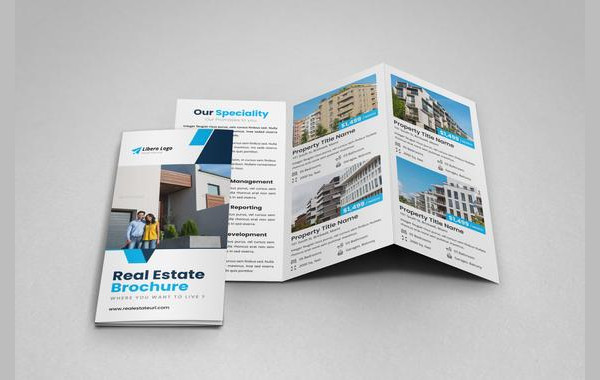 apartment property tri fold brochure template
