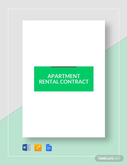 apartment rental real estate contract template