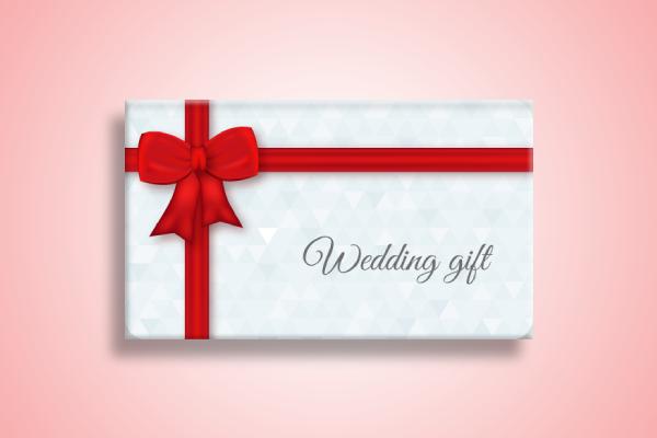 art wedding gift card