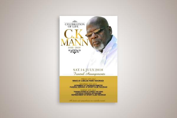 artist obituary flyer