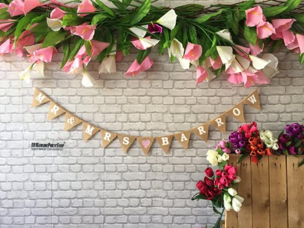 artsy wedding banner