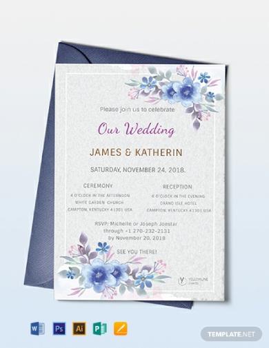 artsy wedding invitation card