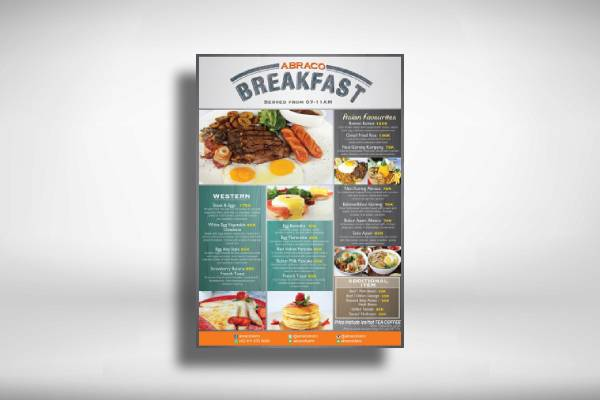 asian and western breakfast menu
