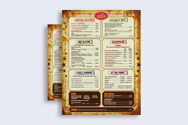 bbq express menu