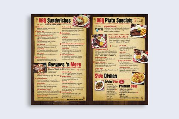 bbq grill cafe menu
