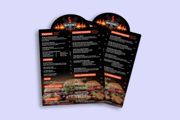 bbq restaurant menu