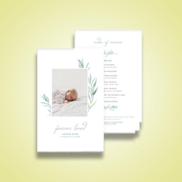 baby boy funeral service program
