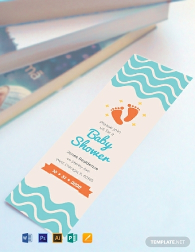 baby shower bookmark
