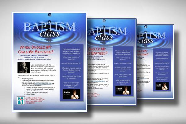 baptism class flyer