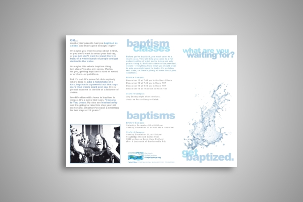 baptism classes brochure