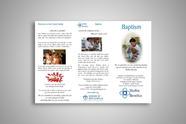 baptism and christening brochure