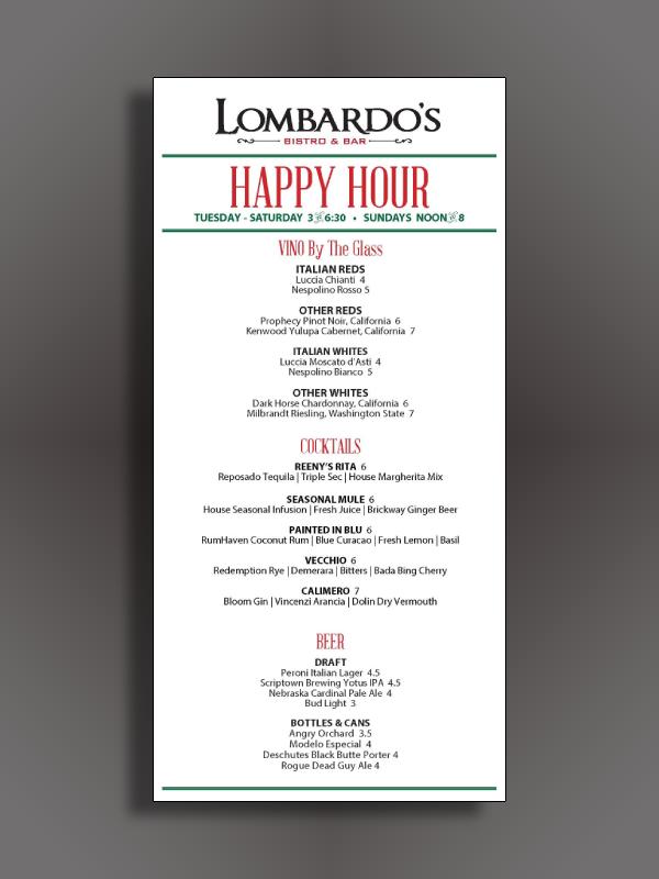 bar happy hour menu