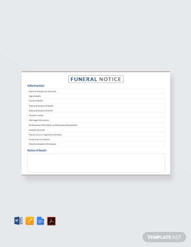 basic funeral notice