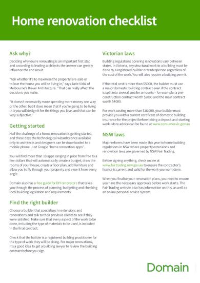 basic home renovation checklist