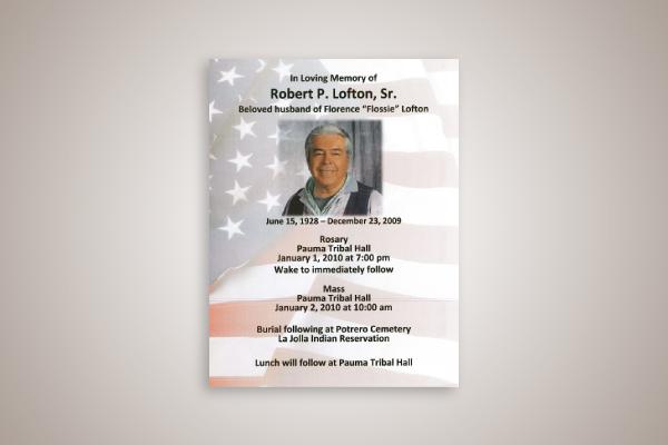 basic obituary flyer