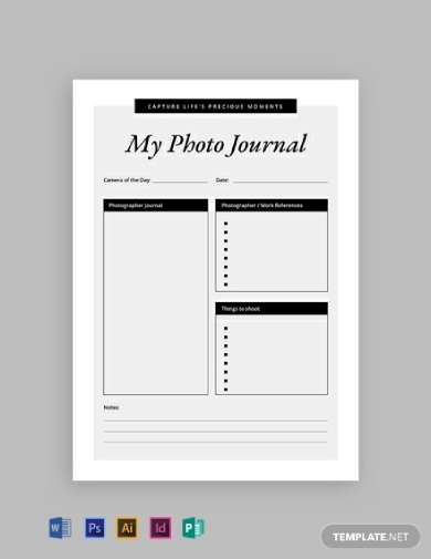 basic photography journal