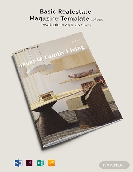 basic real estate magazine template