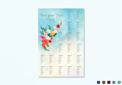 beach wedding seating chart