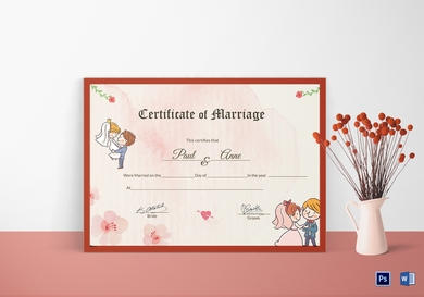 beautiful antique wedding certificate