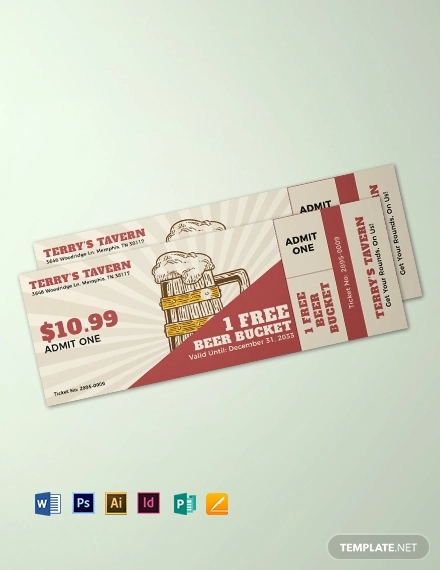 beer fest drink ticket template