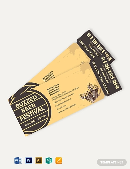 beer festival ticket template