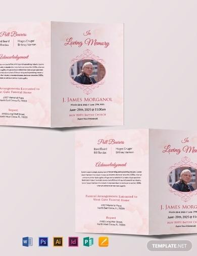 bifold funeral brochure