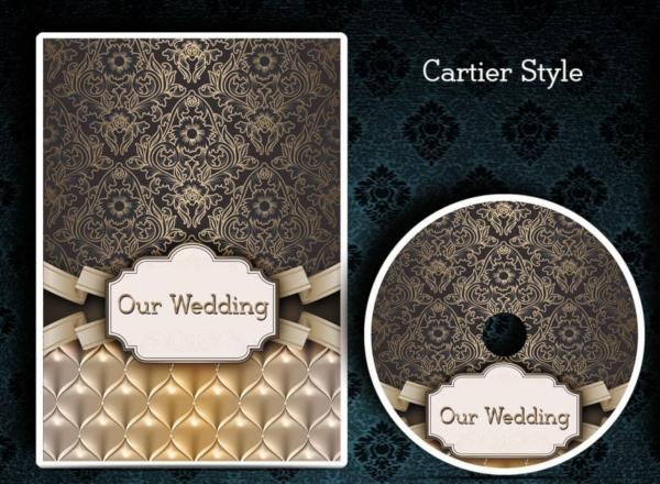 black and gold wedding dvd cover