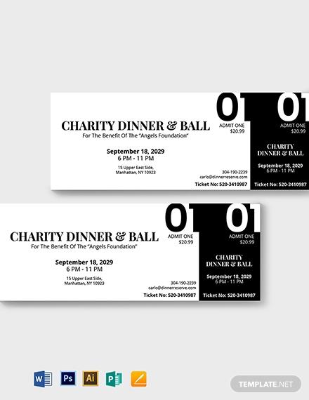 blank dinner ticket template
