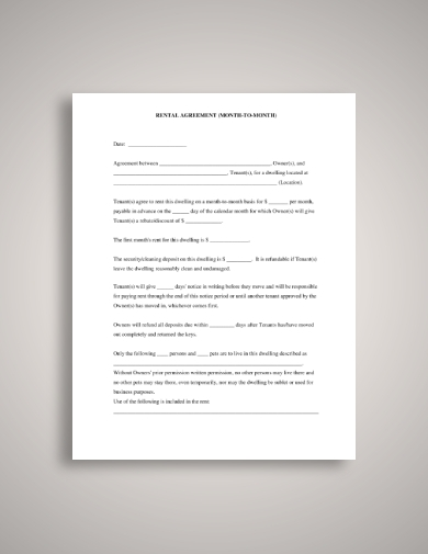 blank tenant lease agreement
