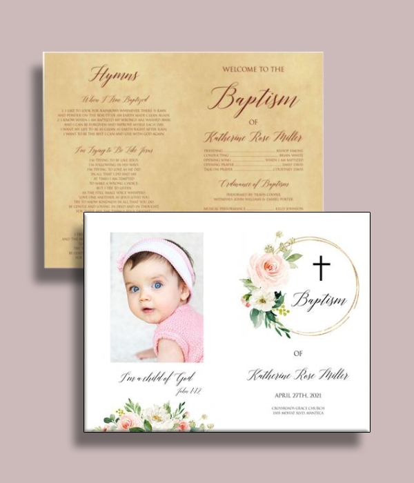 blush baptism program