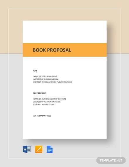 book proposal template