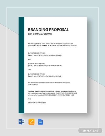 how to write a branding proposal