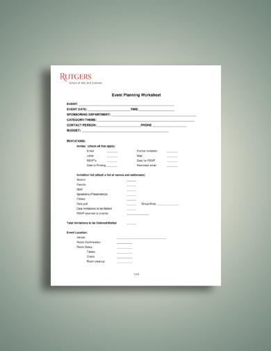 buffet catering worksheet