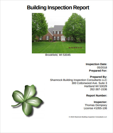 building property inspection report