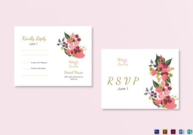 burgundy floral wedding rsvp card