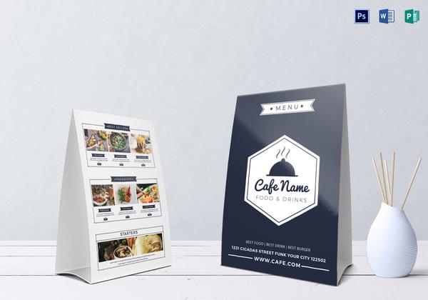 cafe menu table tent1