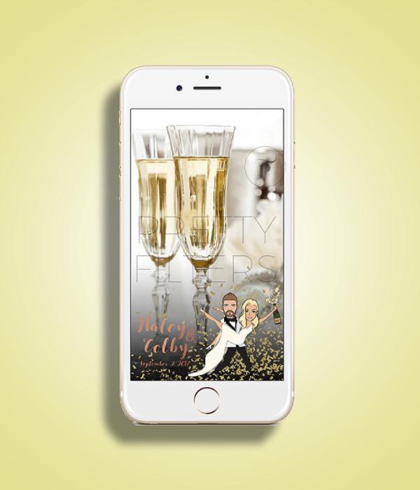 cartoon wedding snapchat filter