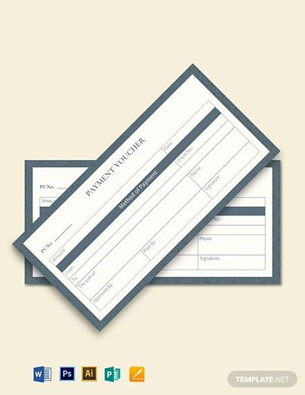 cash payment voucher template