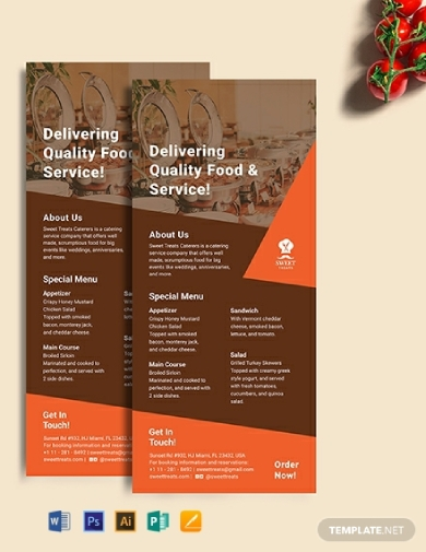 catering rack card