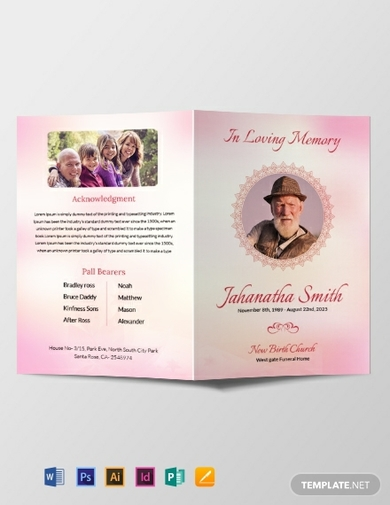 catholic funeral bifold brochure