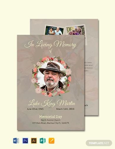 catholic funeral program invitation