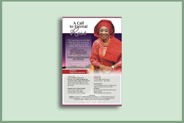 celebrity funeral flyer