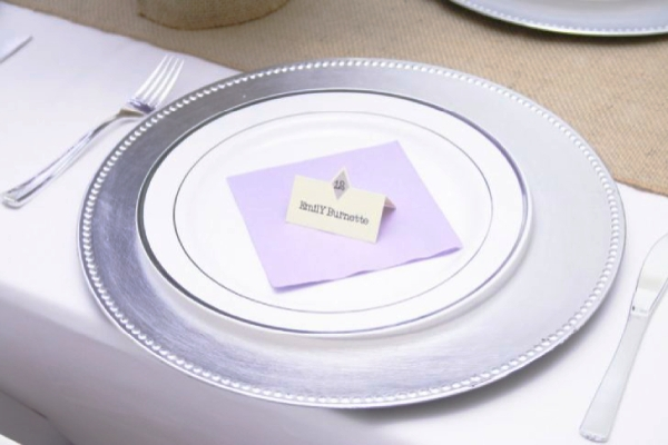 chic wedding place card