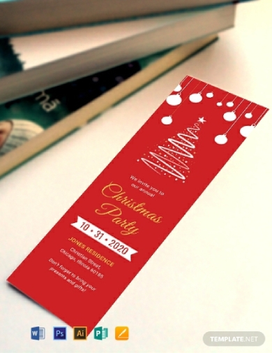 christmas greeting bookmark